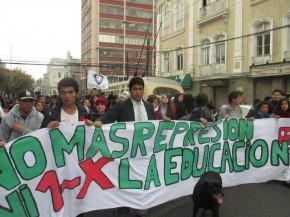 Marcha estudiantes secundarios