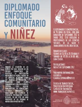 afiche diplomado enfoque comunitario y ninez