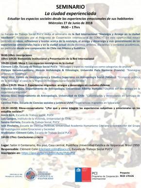 CONVOCATORIA SEMINARIO LA CIUDAD EXPERIENCIADA-1-1