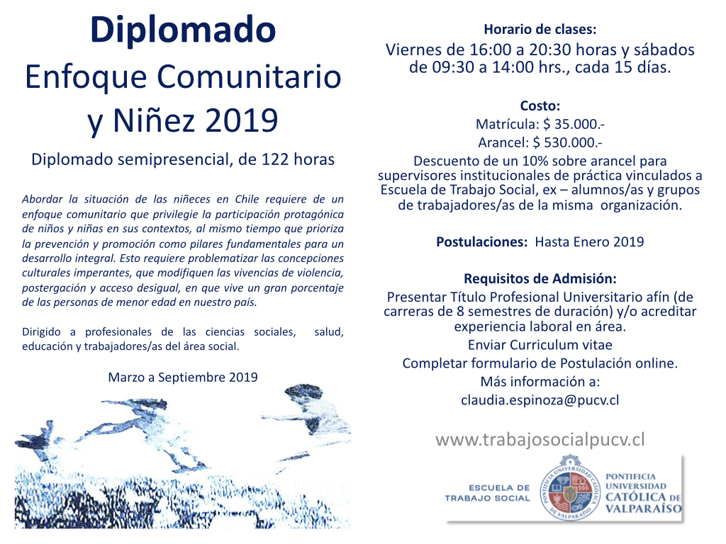 Diplomado Enfoque Comunitario Y Ninez Tercera Version Ano 2019